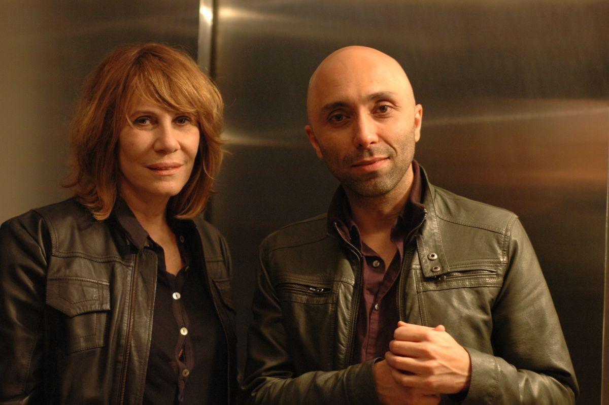 Renata Sorrah e o diretor Márcio Abreu