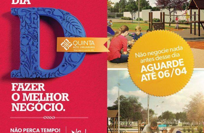 Dia D Quinta Alto Umuarama é neste sábado (06/04)